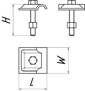 Соединительная клемма проводника S101, чертеж